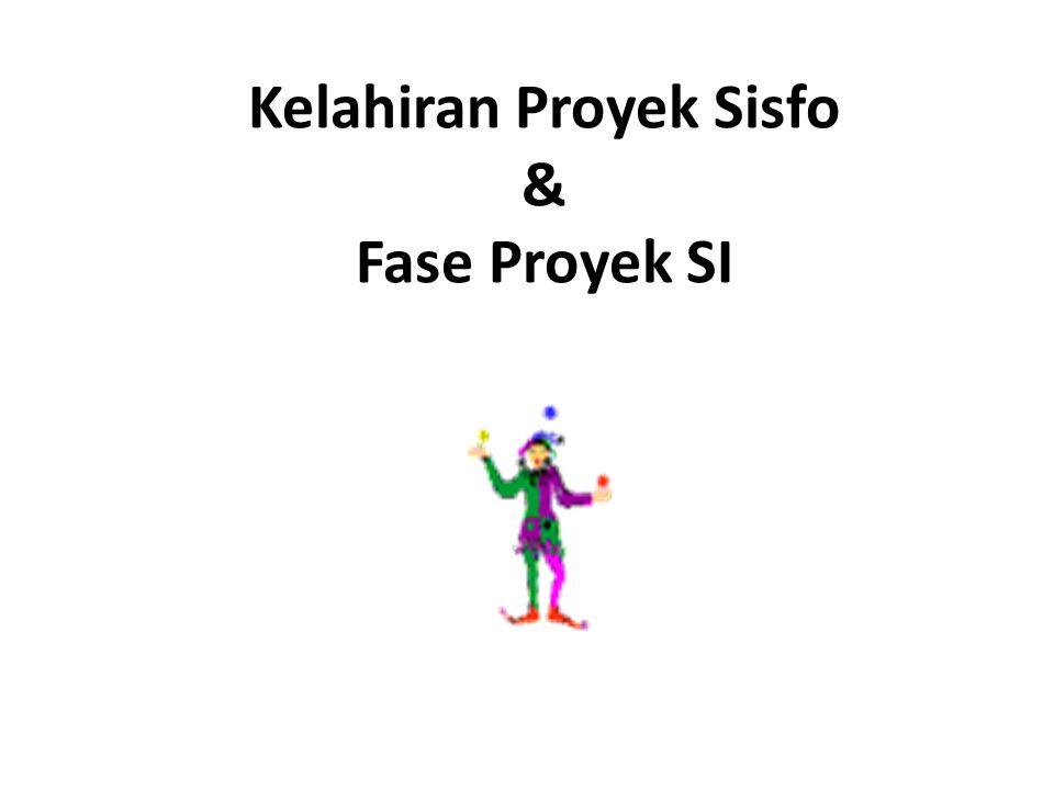 Kelahiran Proyek Sisfo & Fase Proyek SI