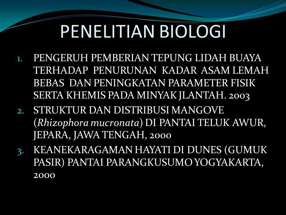 PENELITIAN BIOLOGI 1.