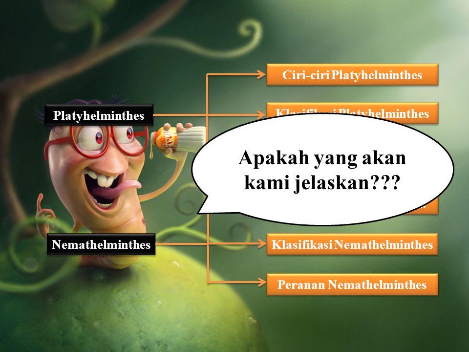 Nemathelminthes Platyhelminthes Peranan Nemathelminthes Klasifikasi Nemathelminthes Ciri-ciri Nemathelminthes Peranan Platyhelminthes Klasifikasi Plat