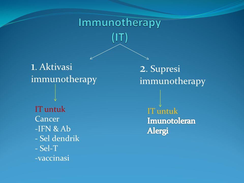 1.Aktivasi immunotherapy 2.