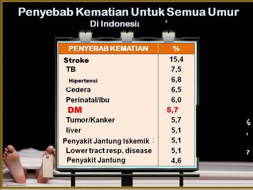 4 Stroke Hipertensi DM Penyakit Jantung Iskemik Penyakit Jantung 5,7