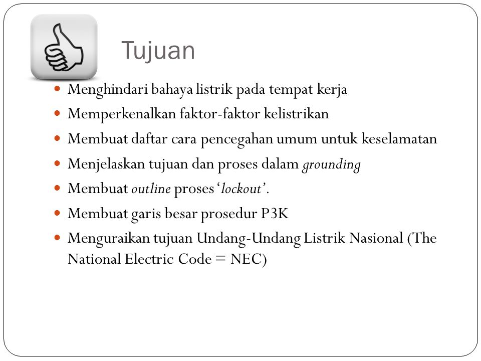 1.8 undang-undang dan standar listrik – Cont.