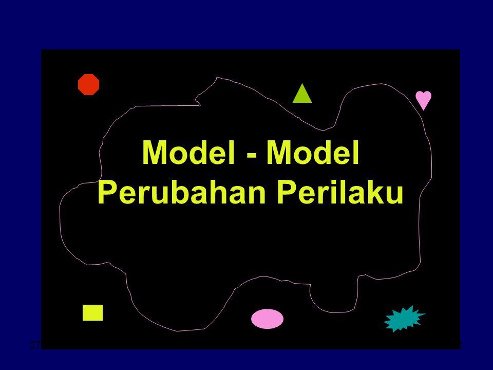 27-3-07ant.srihartono1 Model - Model Perubahan Perilaku