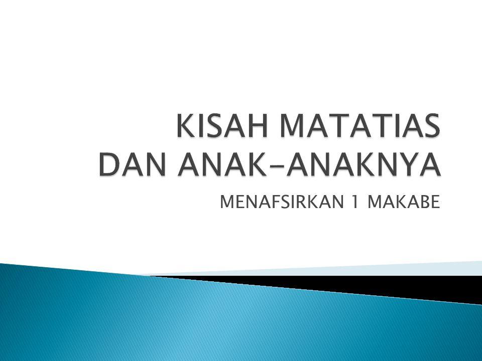 MENAFSIRKAN 1 MAKABE
