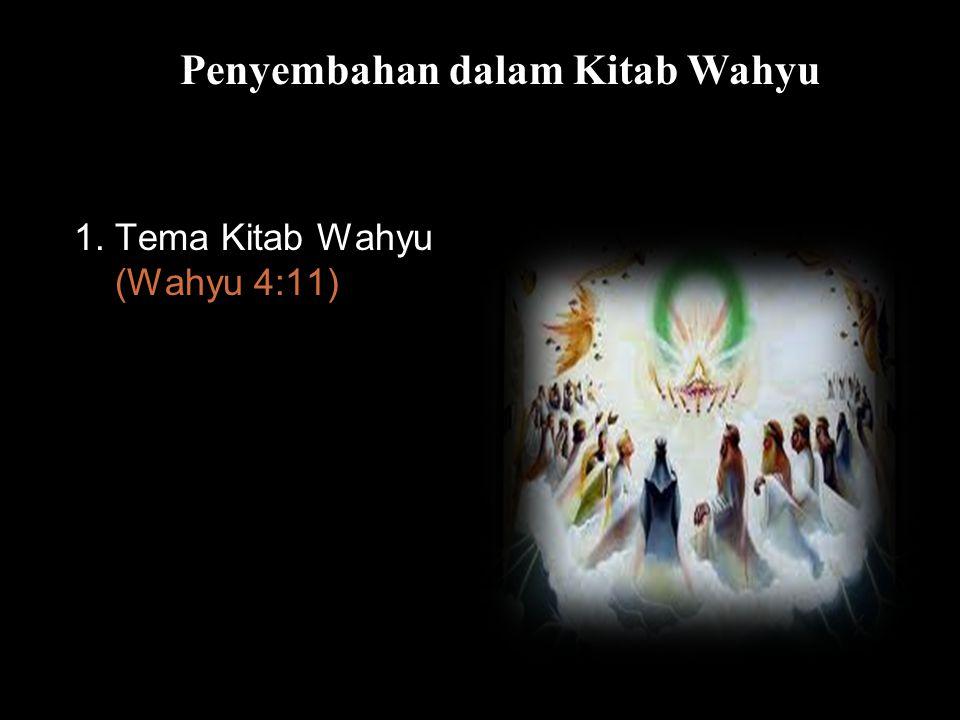 Bla Penyembahan dalam Kitab Wahyu 1. Tema Kitab Wahyu (Wahyu 4:11)
