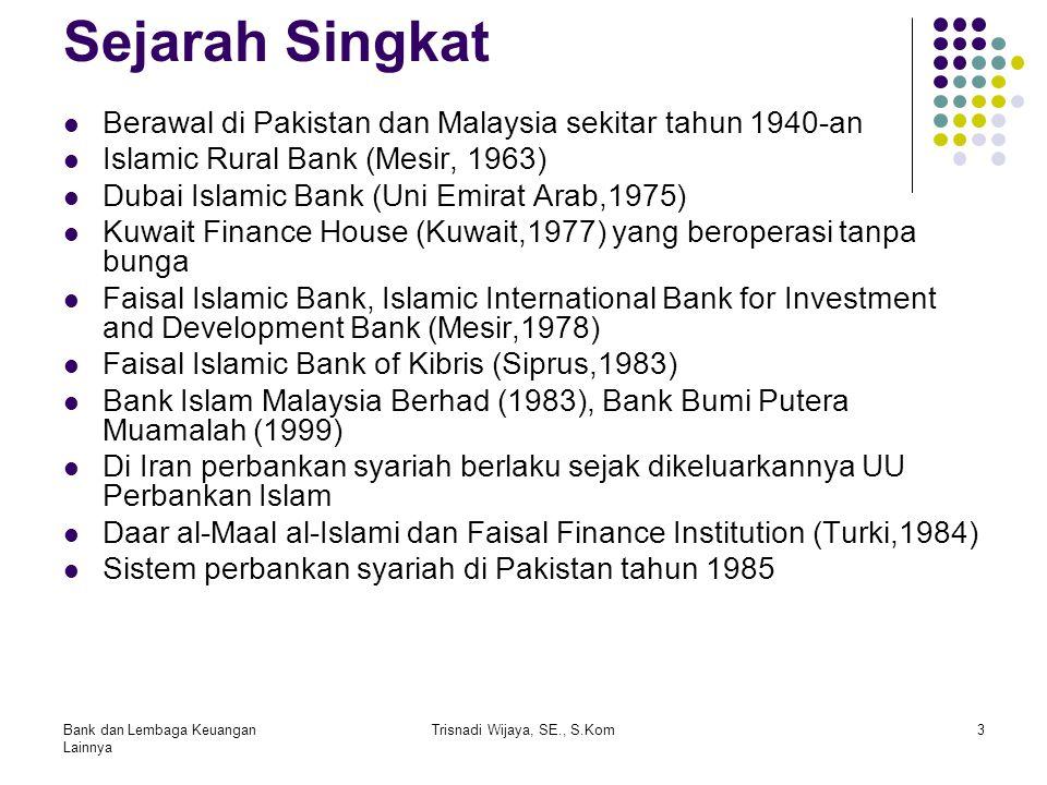 Sejarah Singkat Berawal di Pakistan dan Malaysia sekitar tahun 1940-an Islamic Rural Bank (Mesir, 1963) Dubai Islamic Bank (Uni Emirat Arab,1975) Kuwa