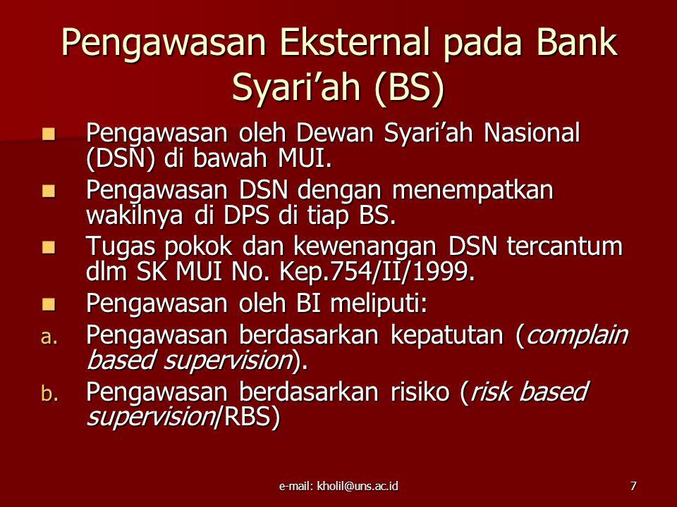 e-mail: kholil@uns.ac.id8 Produk Pengerahan Dana Bank Syari'ah 1.