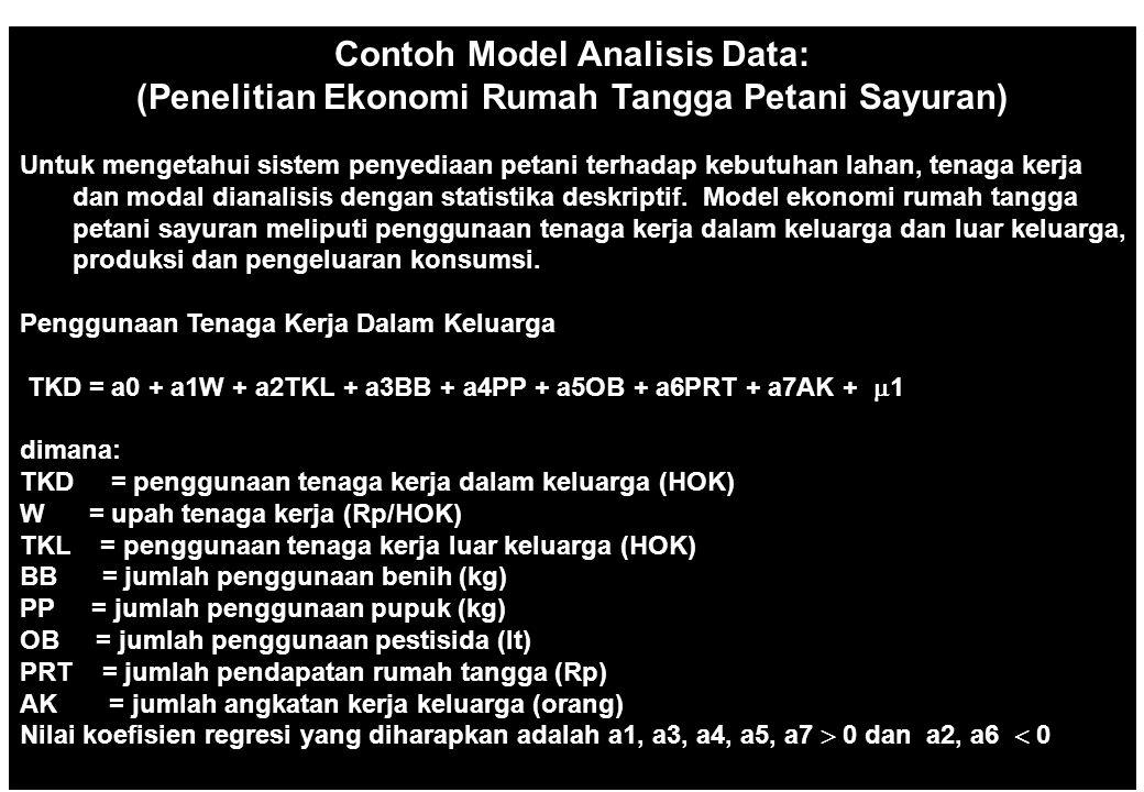 50 Definisi Operasional dan Pengukuran Variabel (Penelitian Integrasi Pasar Komoditi Pangan) Program S2 Ilmu Ekonomi Pertanian PPSUB Untuk menghindari