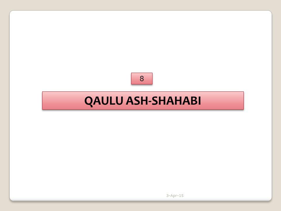 QAULU ASH-SHAHABI 8 8 3-Apr-15