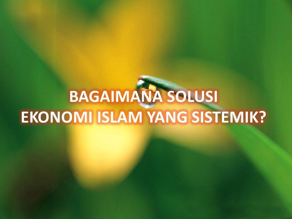 BAGAIMANA SOLUSINYA? SOLUSI EKONOMI ISLAM YANG SISTEMIK