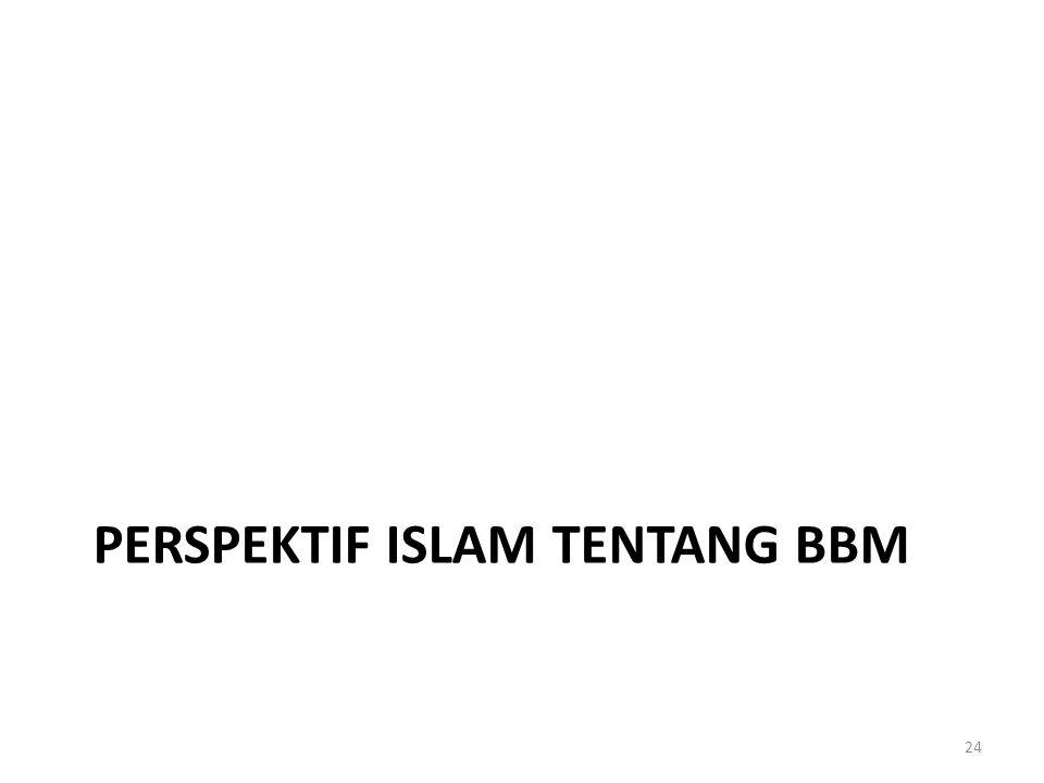 PERSPEKTIF ISLAM TENTANG BBM 24