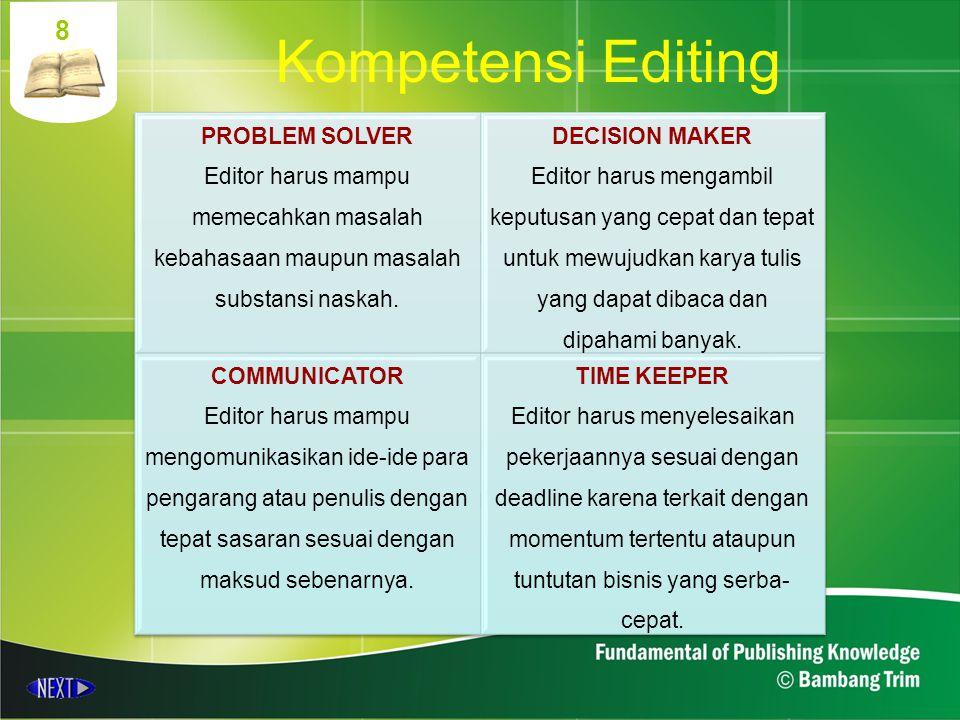 8 Kompetensi Editing