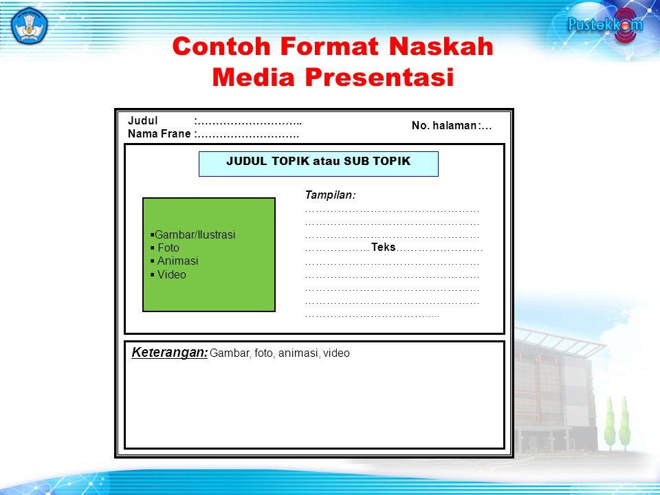 Contoh Format Naskah Media Presentasi Judul:………………………..