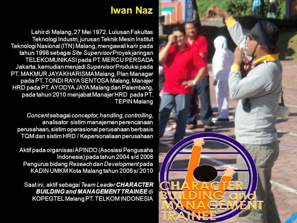 Iwan Naz Lahir di Malang, 27 Mei 1972.