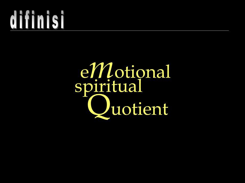 e m otional spiritual Q uotient