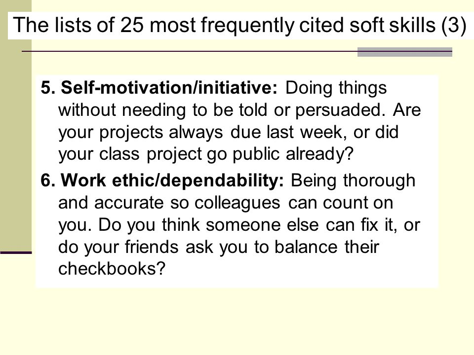 The lists of 25 most frequently cited soft skills (3) 5.