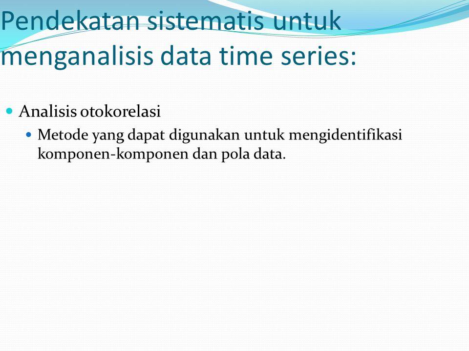 Pendekatan sistematis untuk menganalisis data time series: Analisis otokorelasi Metode yang dapat digunakan untuk mengidentifikasi komponen-komponen d