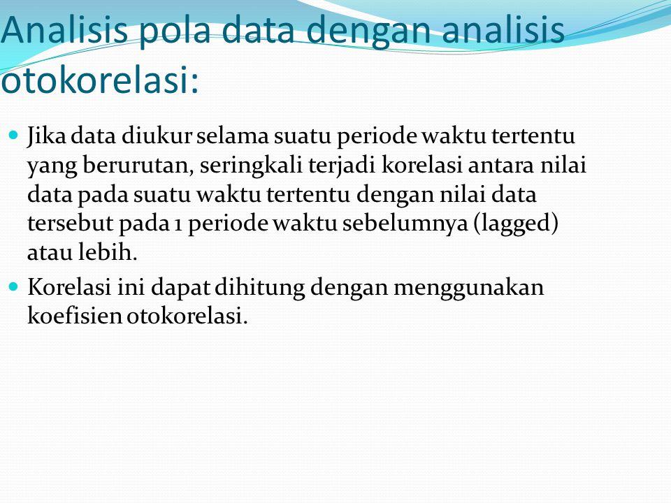 Analisis pola data dengan analisis otokorelasi: Jika data diukur selama suatu periode waktu tertentu yang berurutan, seringkali terjadi korelasi antar