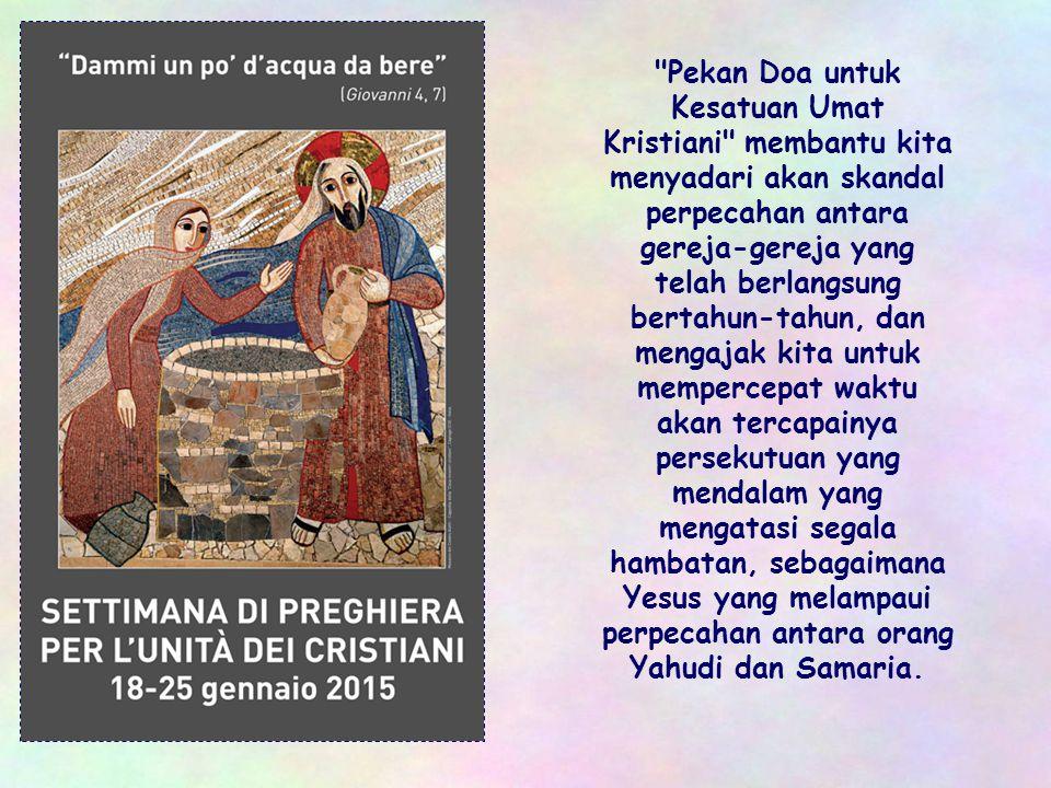 Dalam halaman Injil ini nampaknya kita dapat menemukan suatu ajaran dalam membangun dialog ekumenis yang setiap tahun, pada bulan ini, mengingatkan ki