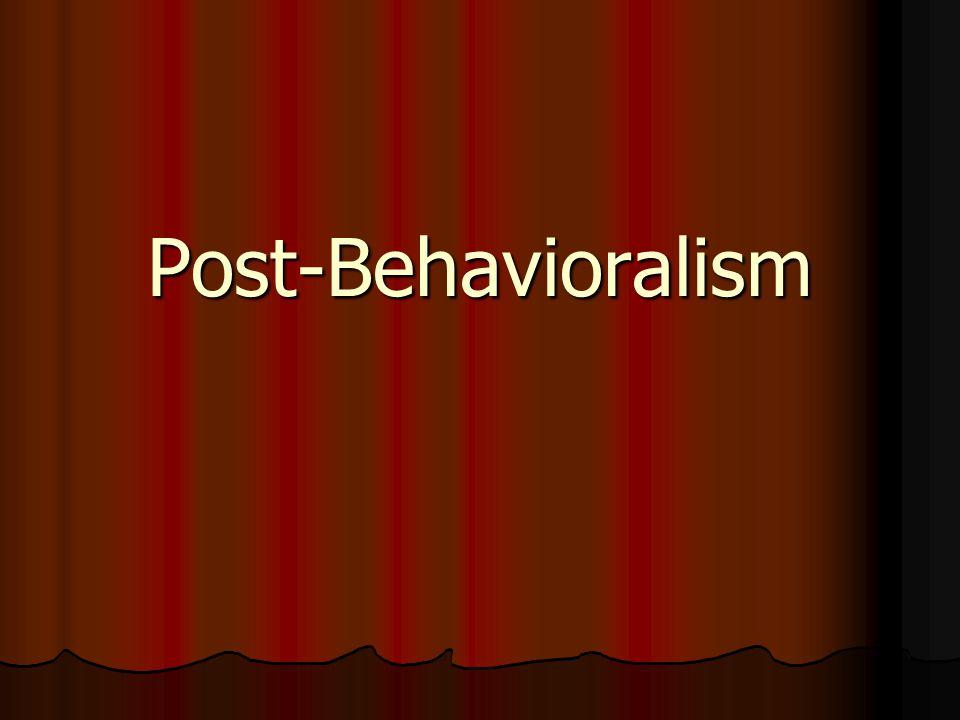 Post-Behavioralism