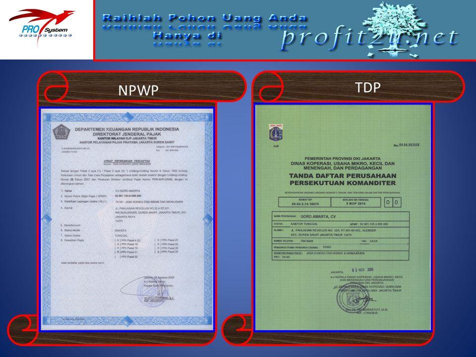 NPWP TDP