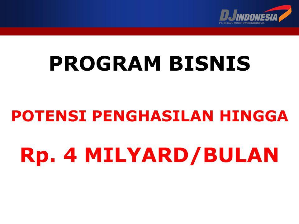 PROGRAM BISNIS POTENSI PENGHASILAN HINGGA Rp. 4 MILYARD/BULAN