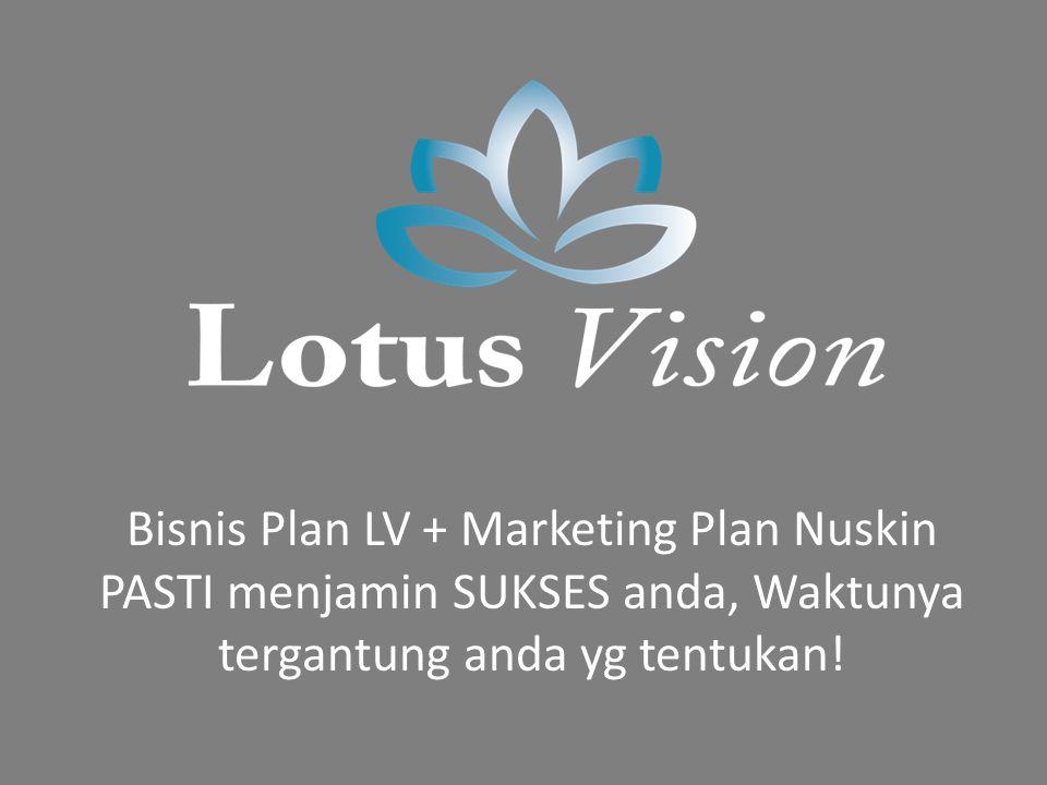 Bisnis Plan LV + Marketing Plan Nuskin PASTI menjamin SUKSES anda, Waktunya tergantung anda yg tentukan!