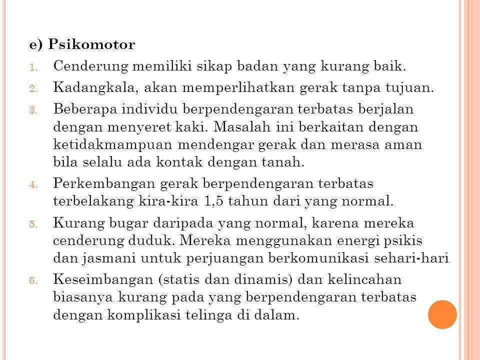 e) Kognitif 1.