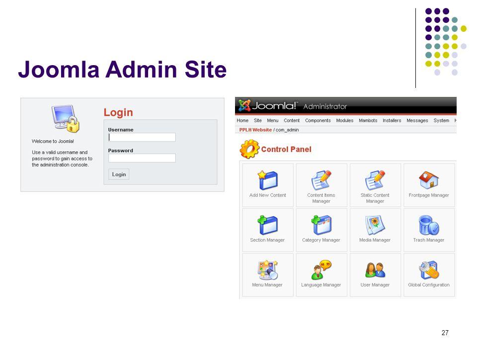 27 Joomla Admin Site