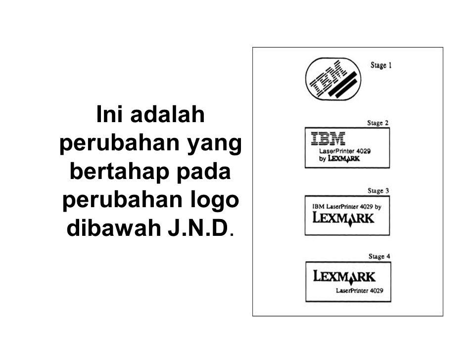 Ini adalah perubahan yang bertahap pada perubahan logo dibawah J.N.D.