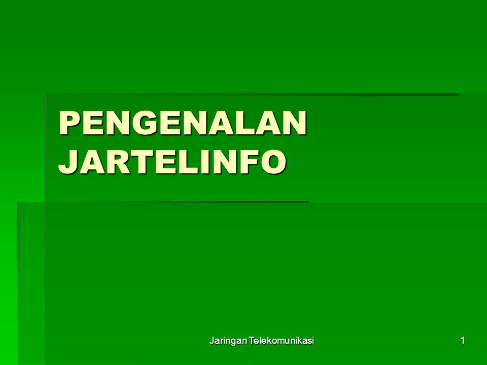 Jaringan Telekomunikasi1 PENGENALAN JARTELINFO