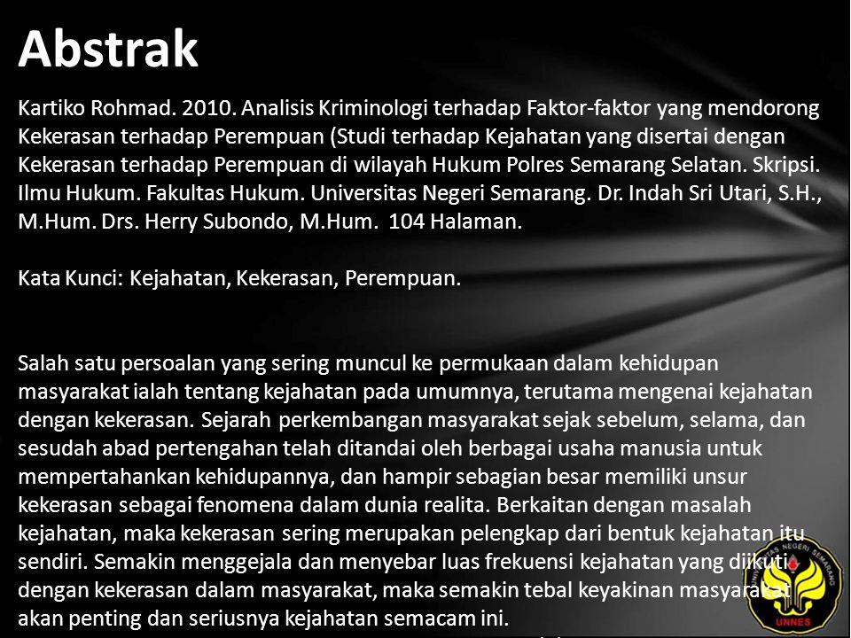 Abstrak Kartiko Rohmad. 2010.