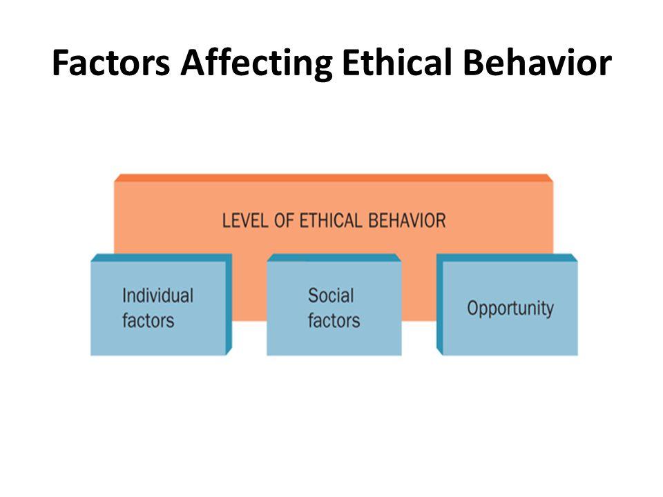 – Individual factors Pengetahuan individu tentang masalah Nilai pribadi Tujuan pribadi – Social factors Norma budaya Rekan kerja Orang-orang terdekat Penggunaan internet – Opportunity Adanya peluang Kode etik Penegakan