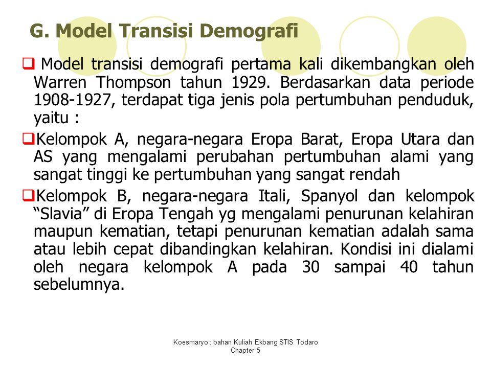 Koesmaryo : bahan Kuliah Ekbang STIS Todaro Chapter 5 G.