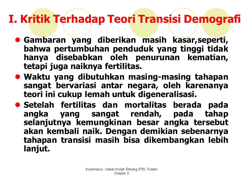 Koesmaryo : bahan Kuliah Ekbang STIS Todaro Chapter 5 I.