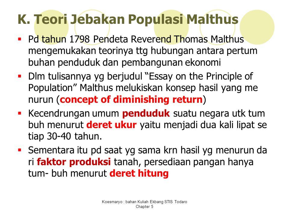 Koesmaryo : bahan Kuliah Ekbang STIS Todaro Chapter 5 K.