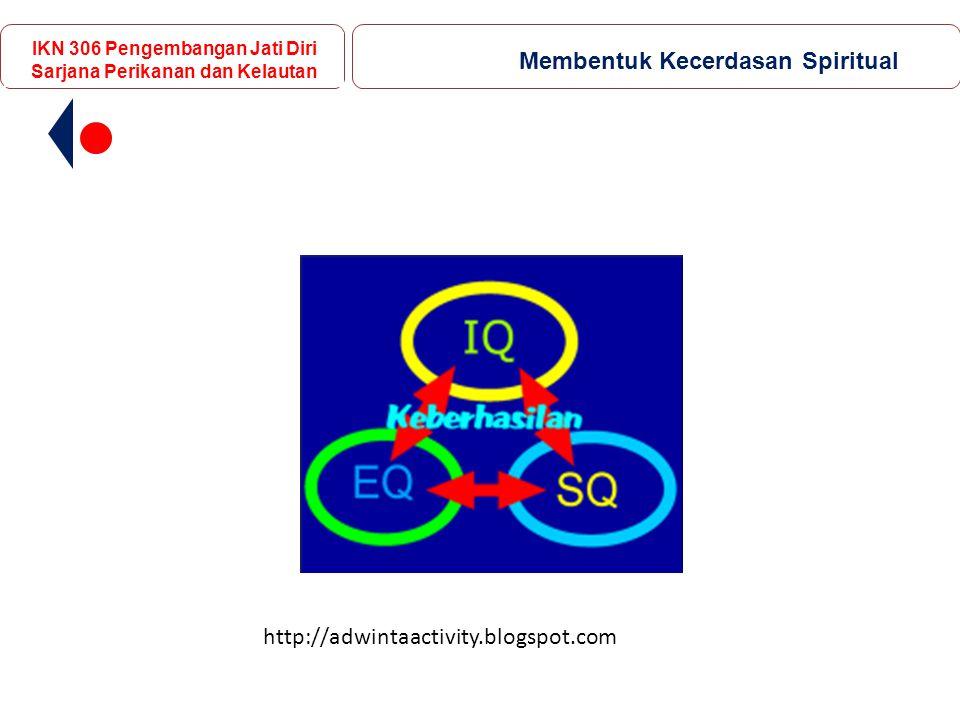 http://adwintaactivity.blogspot.com IKN 306 Pengembangan Jati Diri Sarjana Perikanan dan Kelautan Membentuk Kecerdasan Spiritual