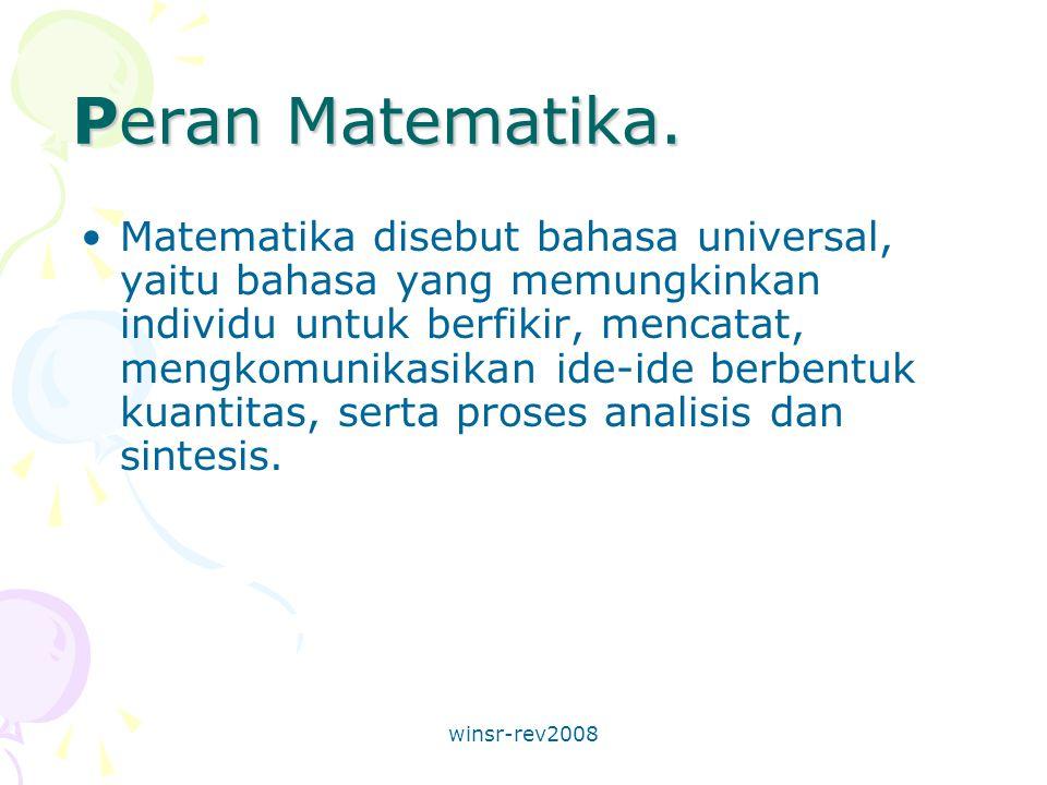 winsr-rev2008 Peran Matematika.
