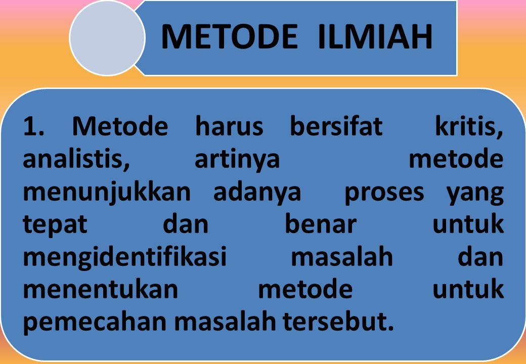 METODE ILMIAH 1.