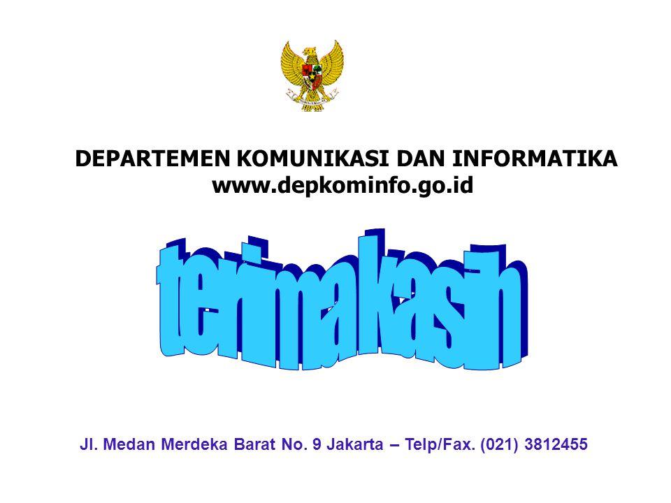 DEPARTEMEN KOMUNIKASI DAN INFORMATIKA www.depkominfo.go.id Jl. Medan Merdeka Barat No. 9 Jakarta – Telp/Fax. (021) 3812455