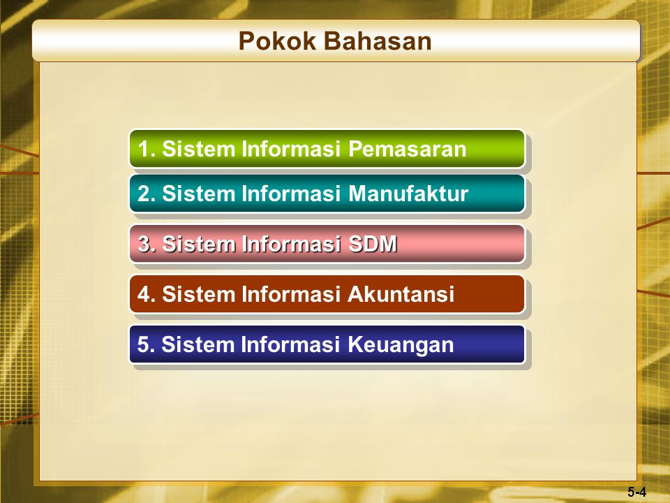5-4 Pokok Bahasan 4. Sistem Informasi Akuntansi 5.