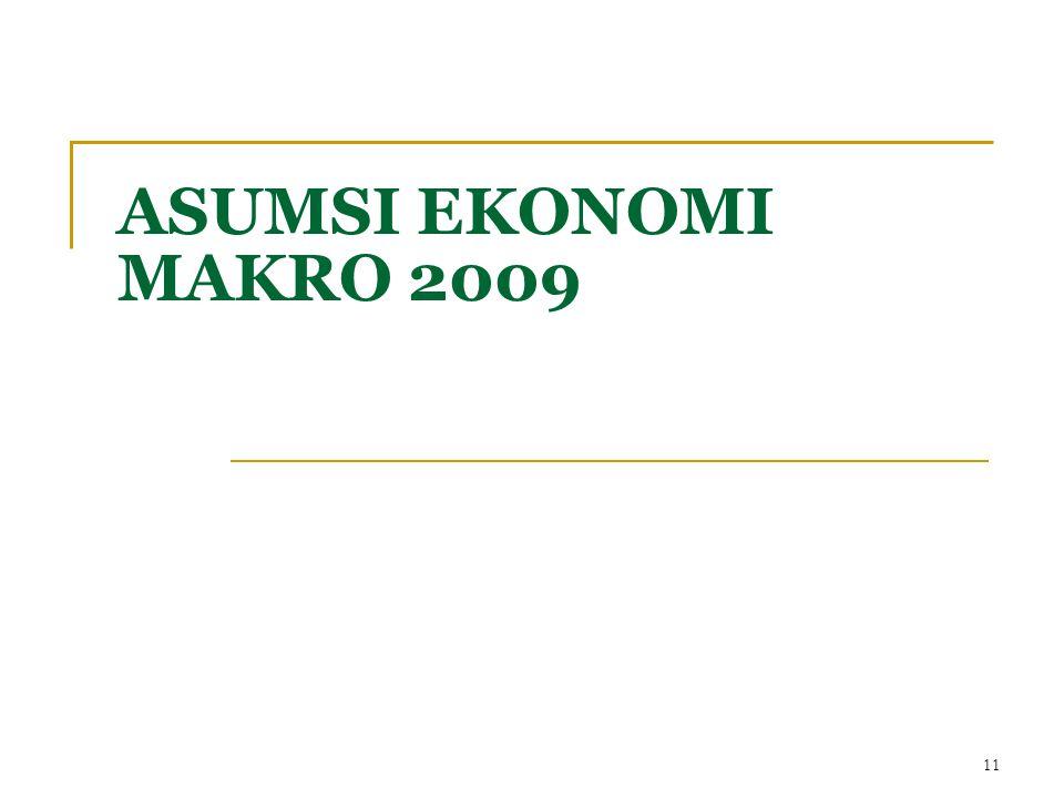 ASUMSI EKONOMI MAKRO 2009 11