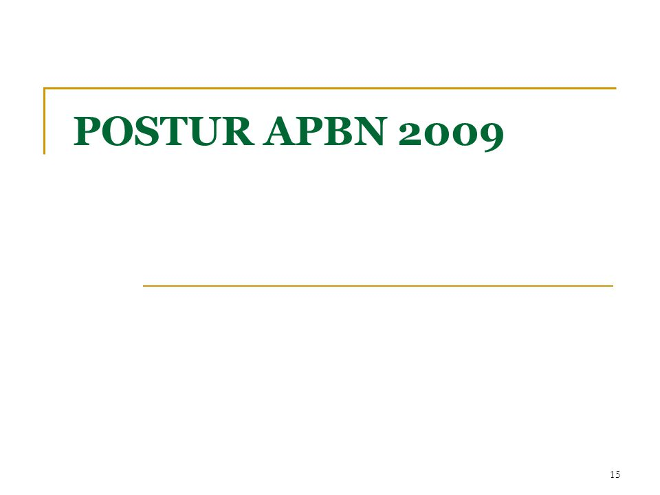 POSTUR APBN 2009 15