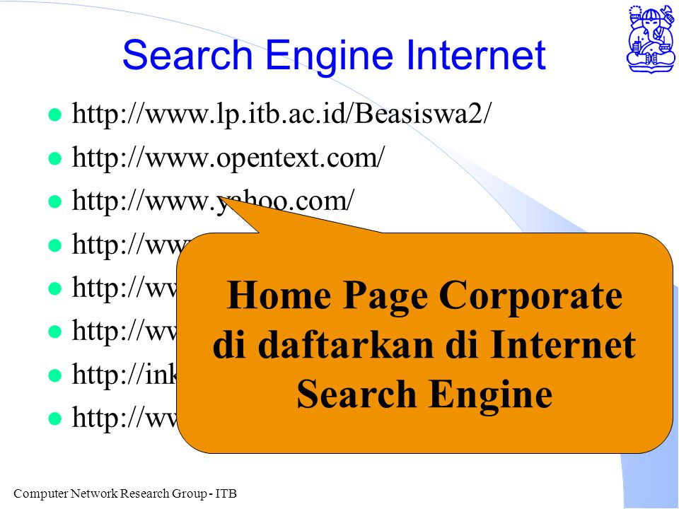 Computer Network Research Group - ITB Contoh Search Lycos