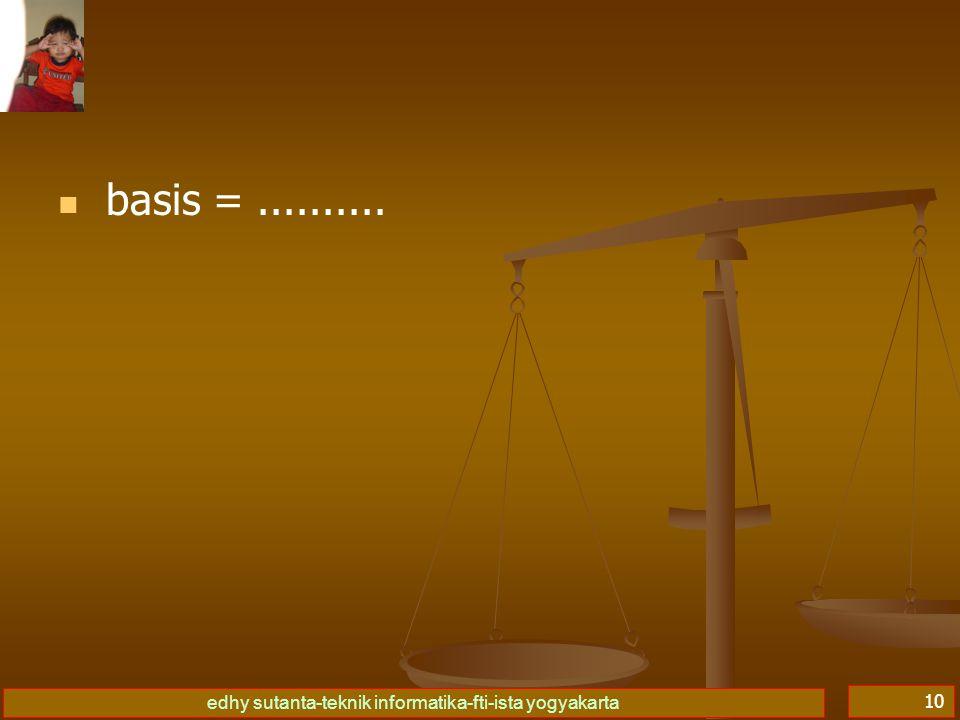 edhy sutanta-teknik informatika-fti-ista yogyakarta 10 basis =..........