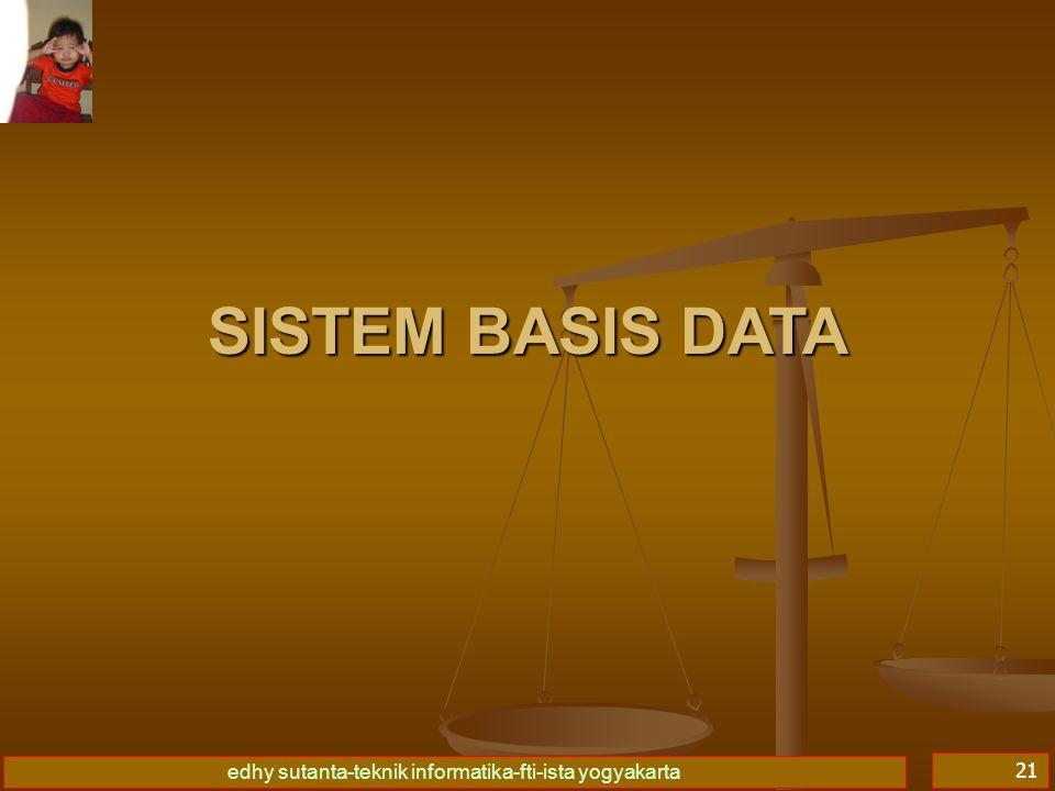 edhy sutanta-teknik informatika-fti-ista yogyakarta 21 SISTEM BASIS DATA