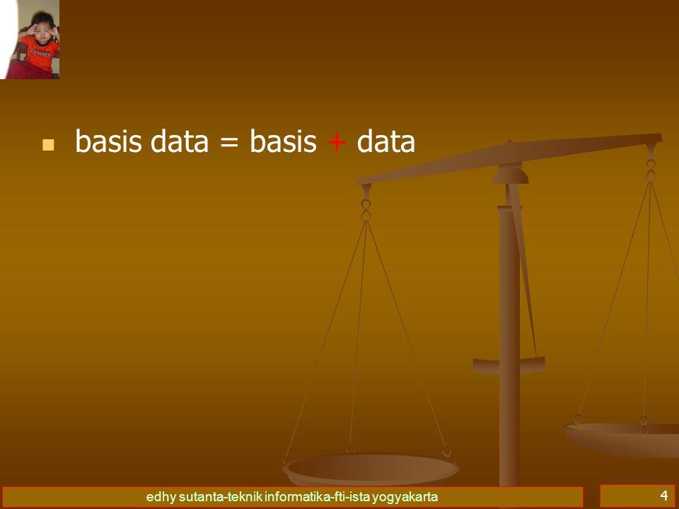 edhy sutanta-teknik informatika-fti-ista yogyakarta 4 basis data = basis + data