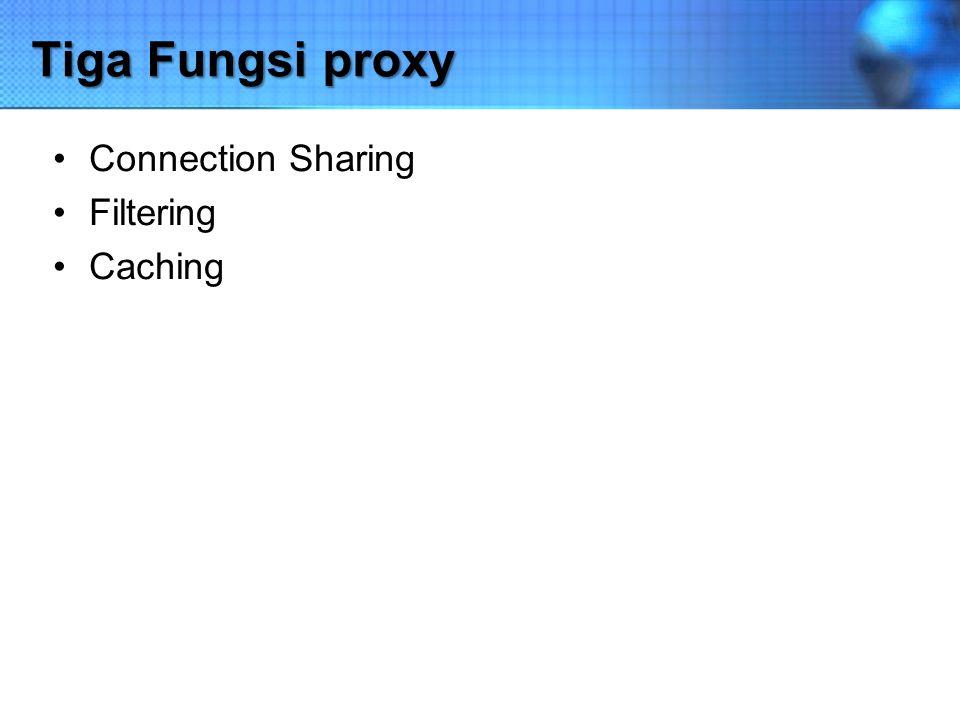 Connection Sharing Konsep dasar, pengguna tidak langsung berhubungan dengan jaringan luar atau internet, tetapi harus melewati suatu gateway, yang bertindak sebagai batas antara jaringan lokal dan jaringan luar.