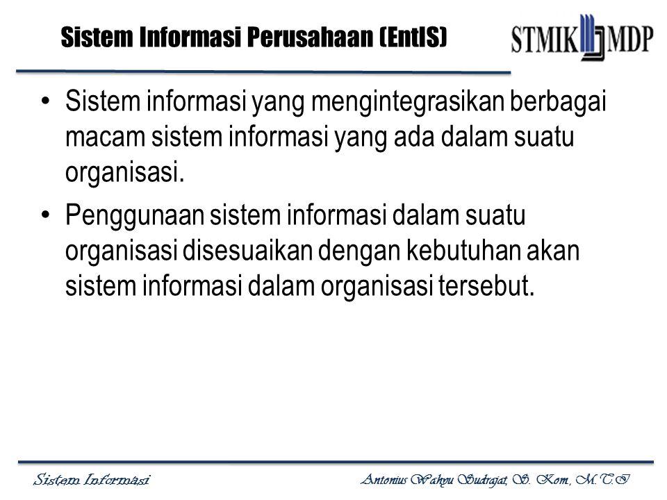 Sistem Informasi Antonius Wahyu Sudrajat, S. Kom., M.T.I Sistem Informasi Perusahaan (EntIS) Sistem informasi yang mengintegrasikan berbagai macam sis