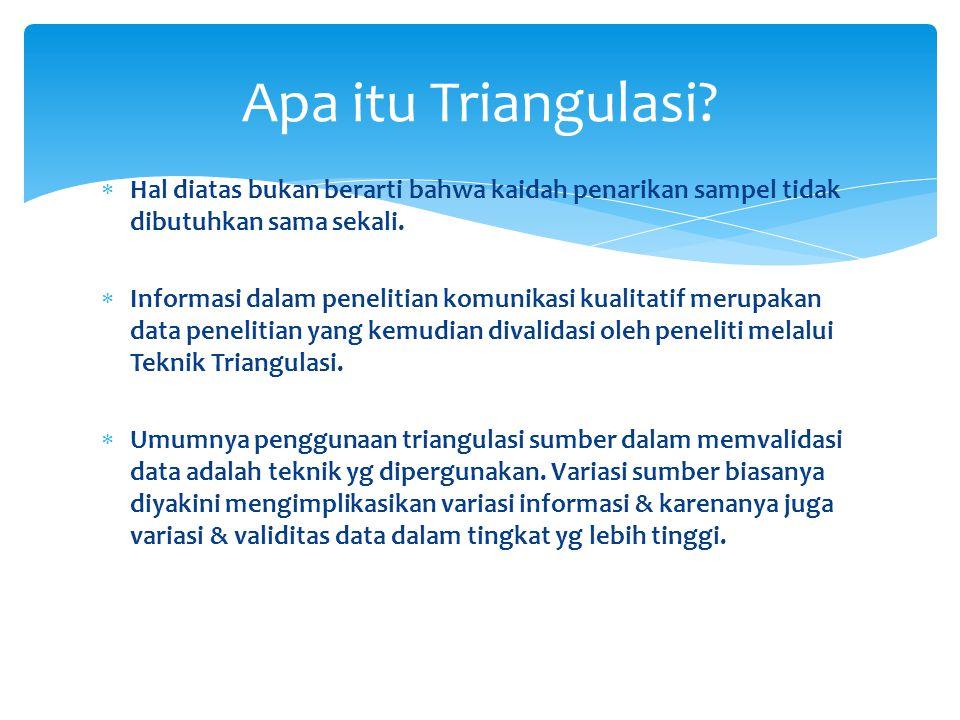  Teknik umum pengujian keabsahan data dilakukan dengan menggunakan teknik triangulasi.
